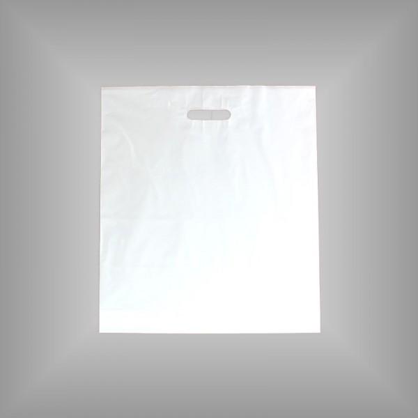 500 PE Tragetaschen weiß 45 x 50 + 5 cm