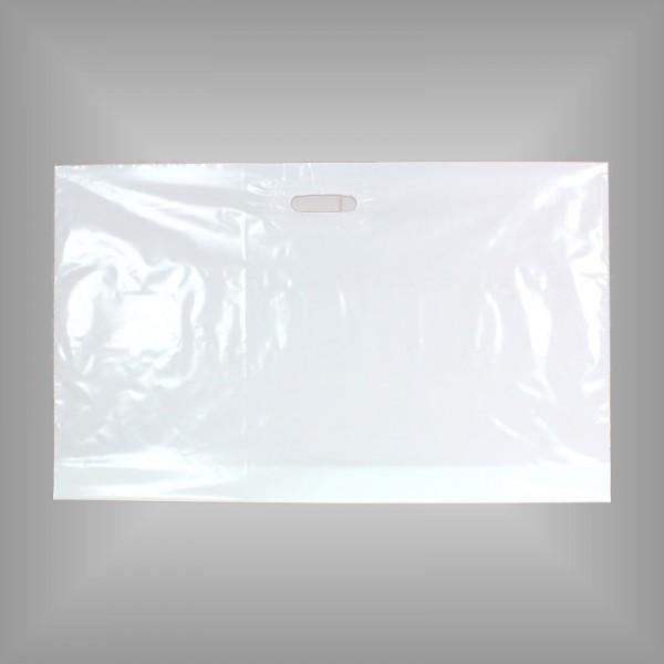 250 PE Tragetaschen weiß 76 x 45 + 5 cm