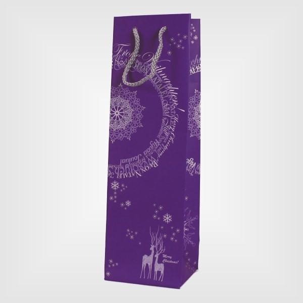 "50 Flaschenträger ""Frohe Weihnachten"" lila"