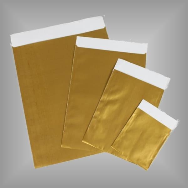 Papierflachbeutel Gold