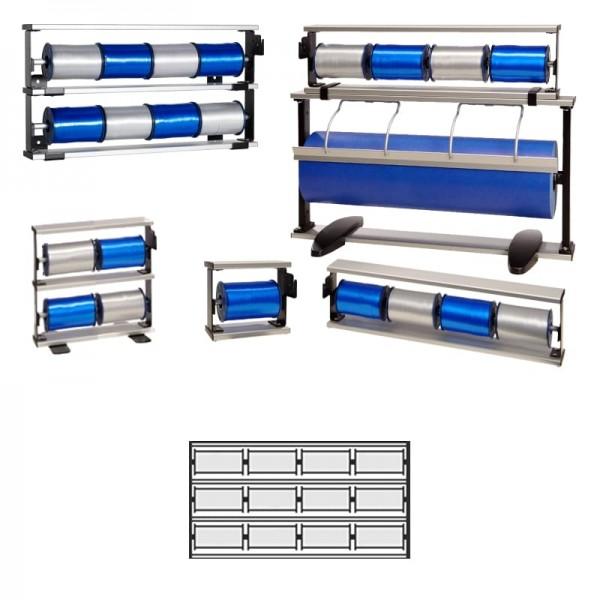 Kräuselbandständer 3x4-fach Alu