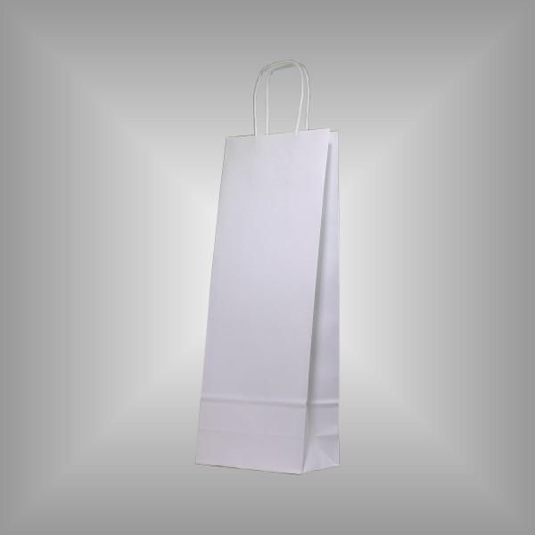 15 x 8 x 39,5 cm Papiertragetaschen weiß 50 Stück