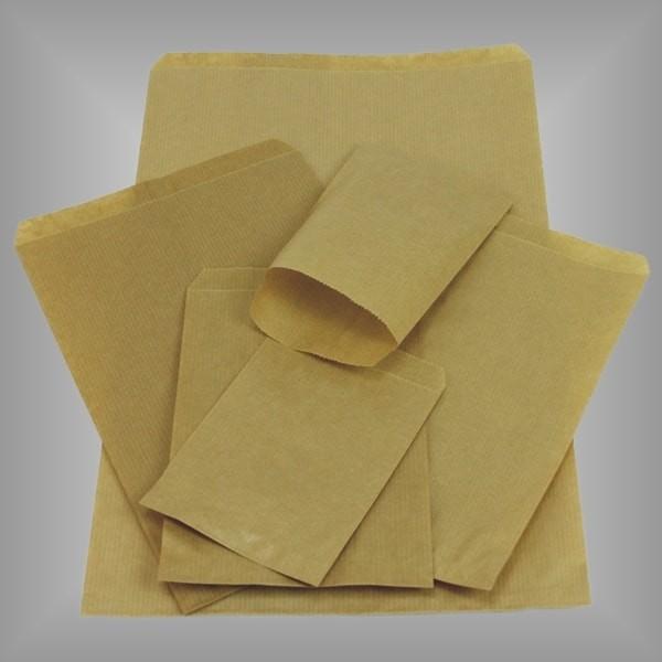Flachbeutel aus Papier braun