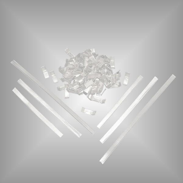 Verschlussclips aus Papier weiß
