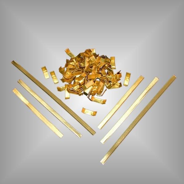 Verschlussclips aus Papier gold