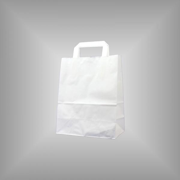 22 x 10 x 28 cm Papiertüten weiß 250 Stück