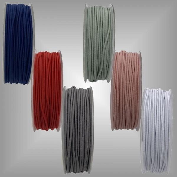 Elastikkordel 2 mm x 50 m verschiedene Farben