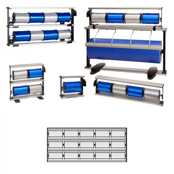 Kräuselbandständer 3x5-fach Alu