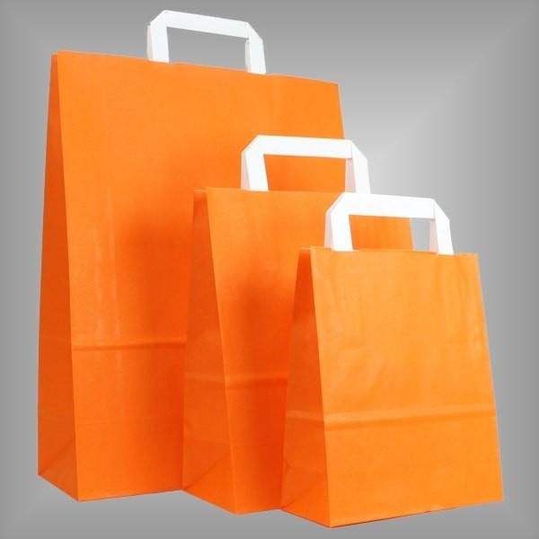 250 Papiertüten orange