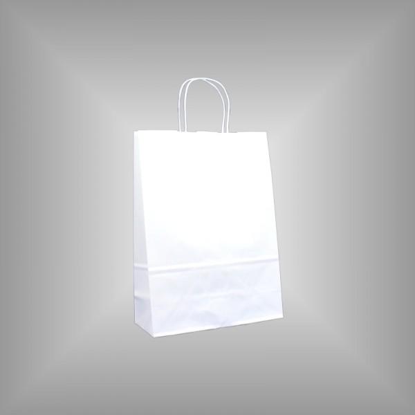 22 x 10 x 31 cm Papiertragetaschen weiß 250 Stück