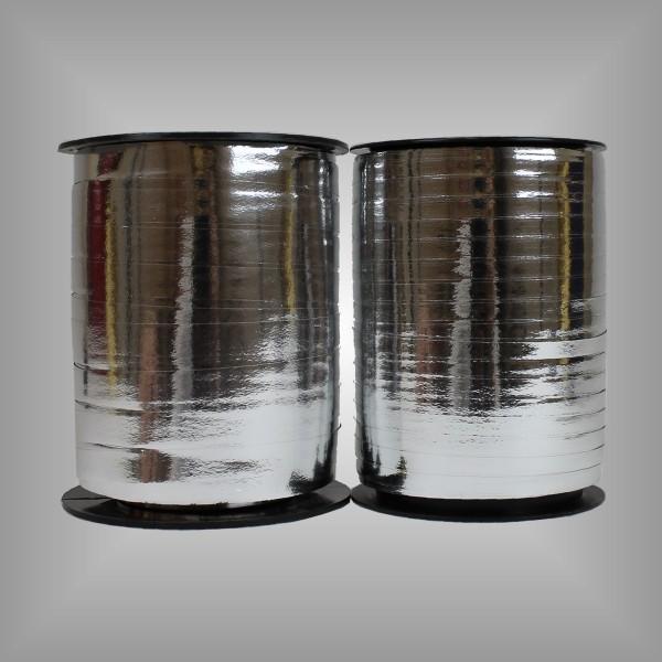 Kräuselband Metall Silber